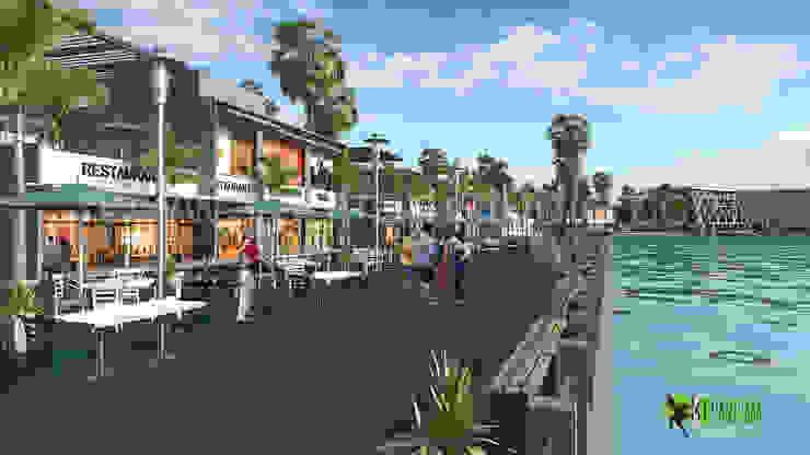 3D Exterior Rendering Restaurant Design: modern  by Yantram Architectural Design Studio, Modern