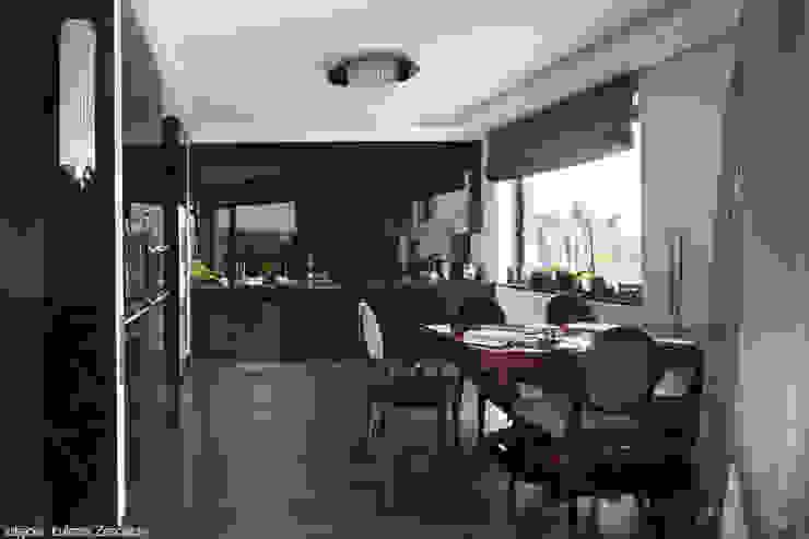 Modern dining room by Pracownia Projektowa Pe2 Modern