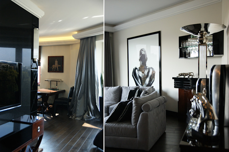Modern living room by Pracownia Projektowa Pe2 Modern
