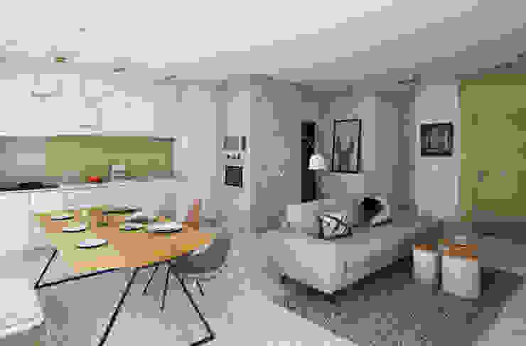 Pracownia Projektowa Pe2 Salones de estilo escandinavo