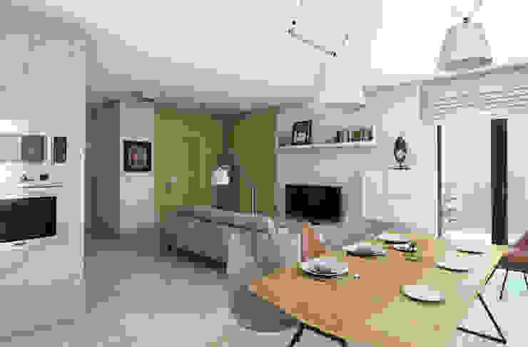 Pracownia Projektowa Pe2 Salas de estilo escandinavo
