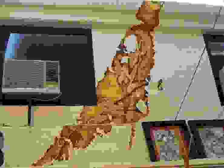 Mural detallado con accesorios Paredes y pisos de estilo mediterráneo de Cenquizqui Mediterráneo