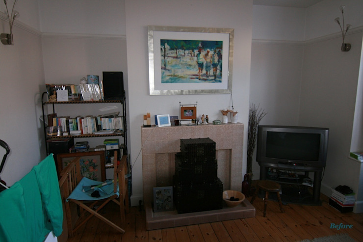 Sitting room-Before the transformation par Katie Malik Interiors Moderne