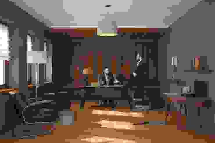 Кабинет руководителя Офисные помещения в эклектичном стиле от Line In Design Эклектичный