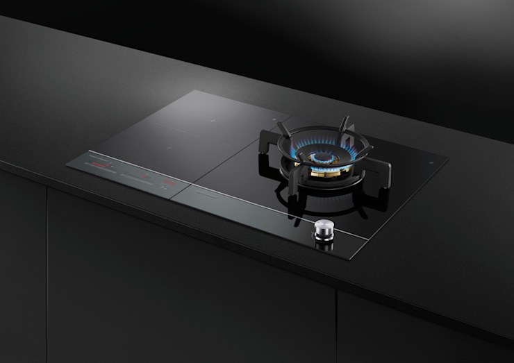 Fisher & Paykel Black glass induction hob Fisher Paykel Appliances Ltd Built-in kitchens Glass Black