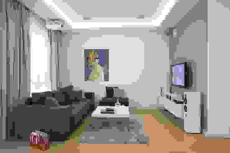 MIESZKANIE 75m2_WARSZAWA_ŻOLIBORZ Nowoczesny salon od I Home Studio Barbara Godawska Nowoczesny