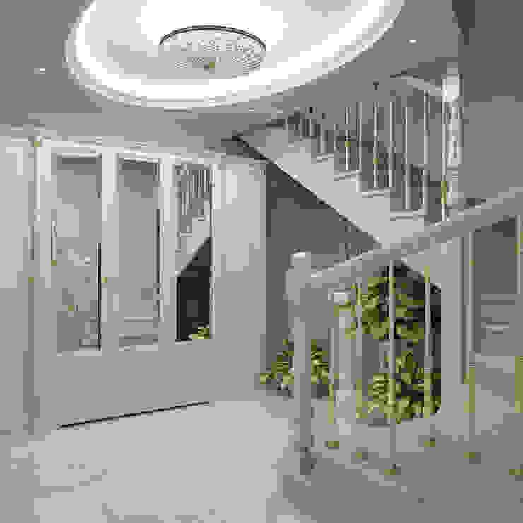 Лестничный холл Коридор, прихожая и лестница в классическом стиле от Частный дизайнер Классический