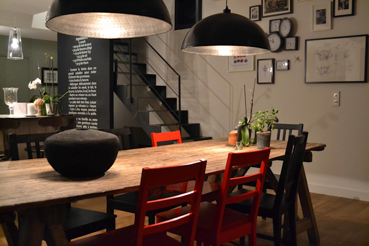 Industrial style dining room by Courants Libres Industrial