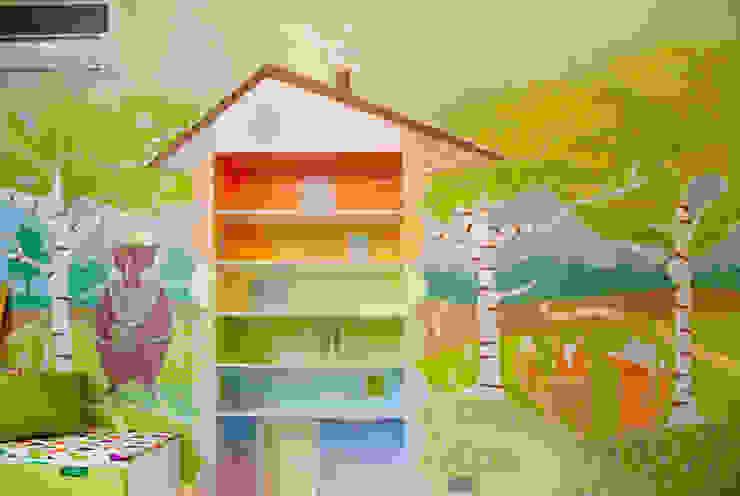 Роспись стен в детской комнате. от «Студия 3.14» Минимализм