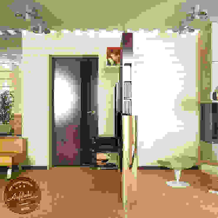 Гостиная в экостиле Гостиная в скандинавском стиле от Anfilada Interior Design Скандинавский
