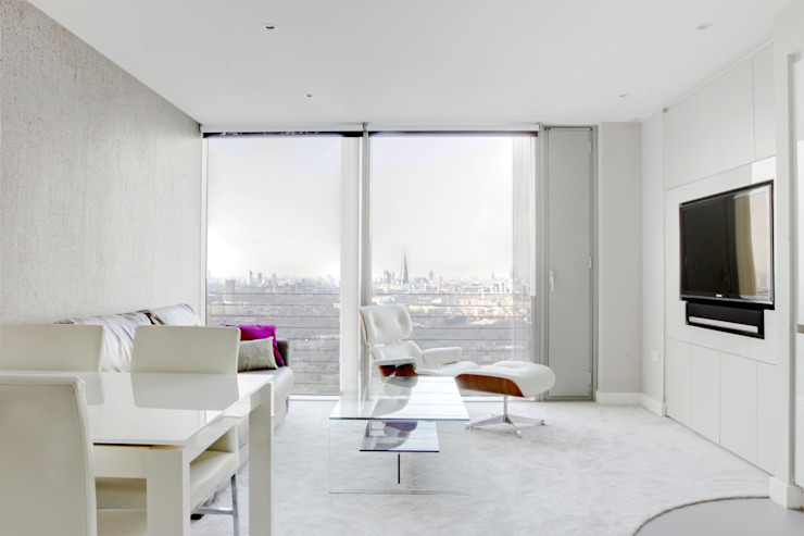Canary Wharf Living Room من Primrose Interiors حداثي