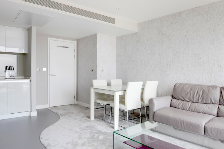 Canary Wharf Interior Design Modern living room by Primrose Interiors Modern