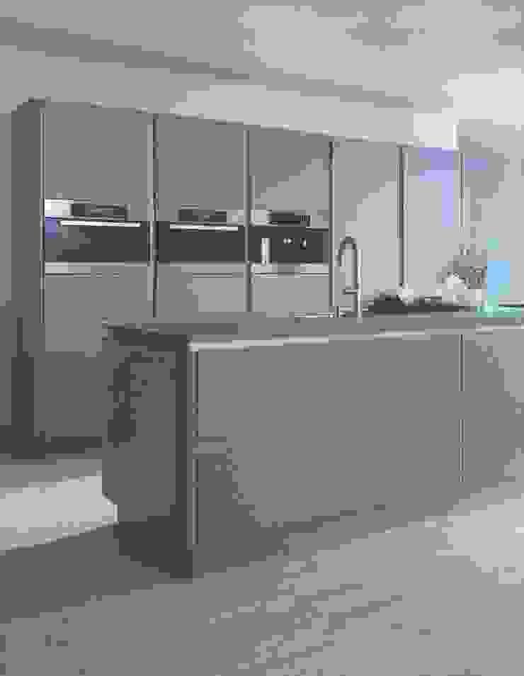 NX502 steengrijs matlak Minimalistische keukens van Eiland de Wild Keukens Minimalistisch