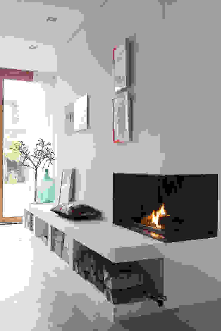 openhaard Moderne woonkamers van Boks architectuur Modern