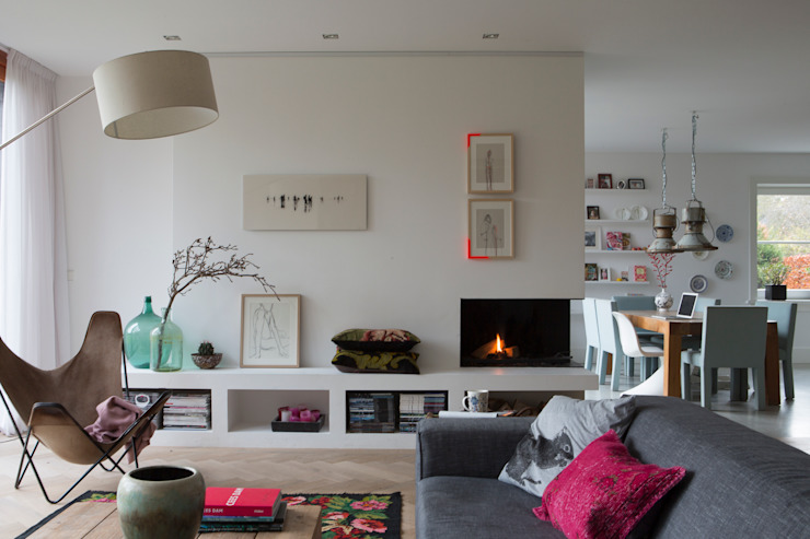 Living room by Boks architectuur, Modern
