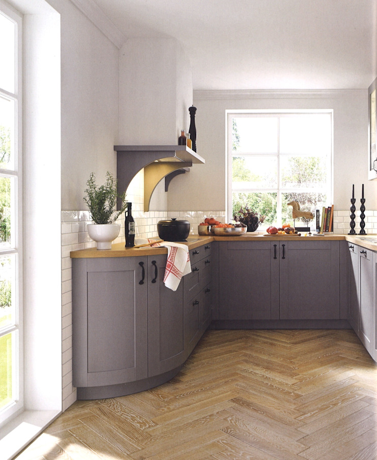 Casa kader met nerf zijdeglanslak Landelijke keukens van Eiland de Wild Keukens Landelijk