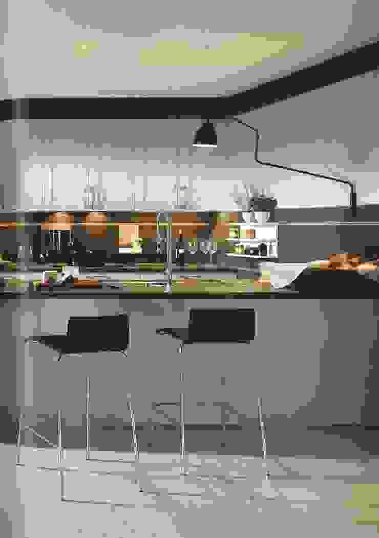 Malta hoogglans kristalgrijs Moderne keukens van Eiland de Wild Keukens Modern
