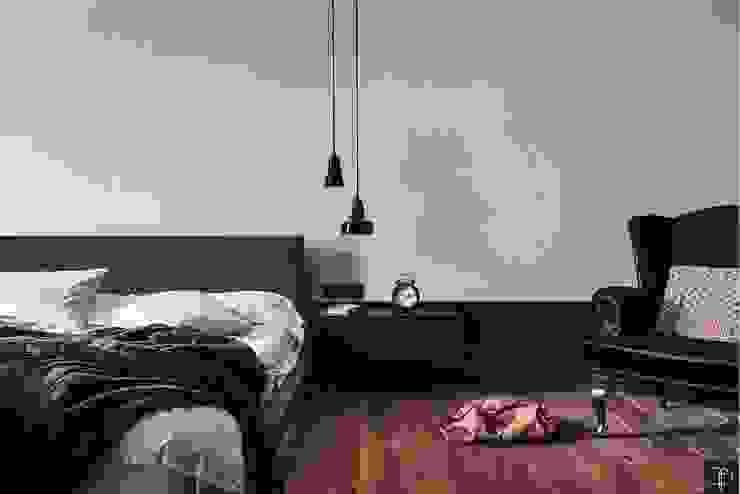 Wielkomiejski eklektyzm: styl , w kategorii Sypialnia zaprojektowany przez Studio Potorska,Eklektyczny