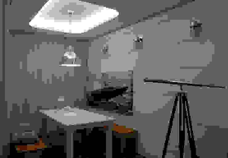 Apartament Waterlane Gdańsk Nowoczesna jadalnia od Ostańska design Nowoczesny