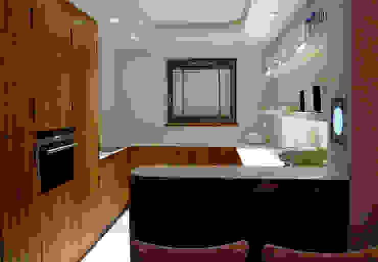 Apartament Waterlane Gdańsk Nowoczesna kuchnia od Ostańska design Nowoczesny