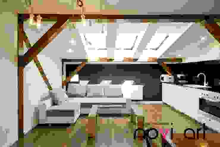 K12 apartament Kraków Nowoczesny salon od homify Nowoczesny