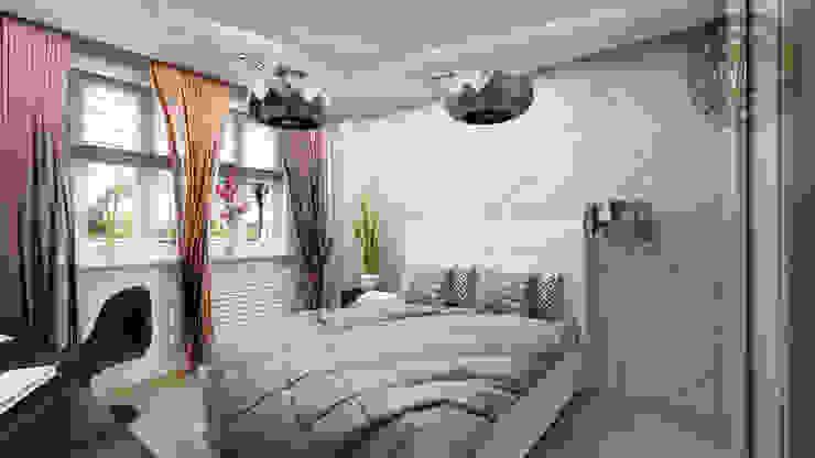 Цветной монохром Спальня в эклектичном стиле от Anfilada Interior Design Эклектичный