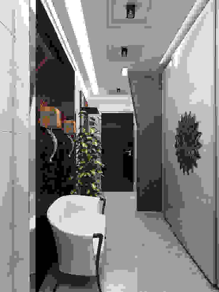 Прихожая в нейтральных тонах Коридор, прихожая и лестница в стиле минимализм от Anfilada Interior Design Минимализм