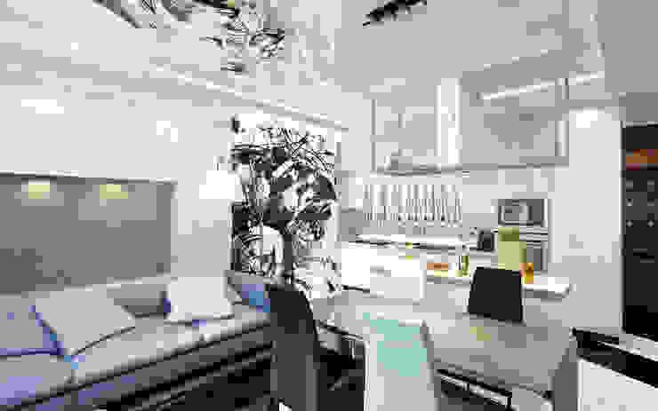 50 оттенков серого Гостиные в эклектичном стиле от Anfilada Interior Design Эклектичный