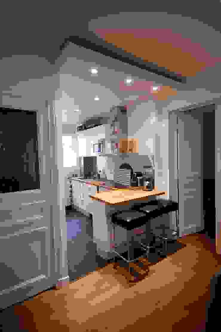 Comment intervertir deux pièces? paris-20e cuisine moderne par