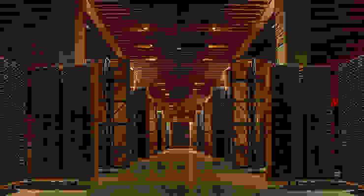 La carpintería técnica de Bodegas Portia SPIGOGROUP Bodegas de estilo minimalista