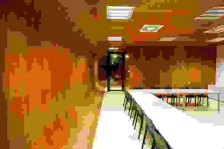 Techos y revestimientos acústicos en madera Estudios y despachos de estilo clásico de SPIGOGROUP Clásico