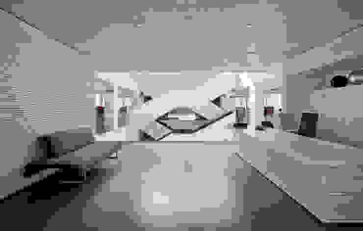 Techos y revestimientos acústicos en madera Salones de estilo moderno de SPIGOGROUP Moderno