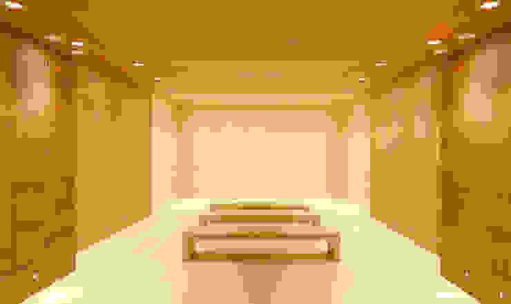 Techos y revestimientos acústicos en madera Salas multimedia de estilo clásico de SPIGOGROUP Clásico