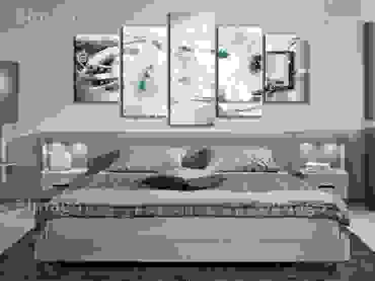 Lirios con acento menta de BIMAGO Moderno