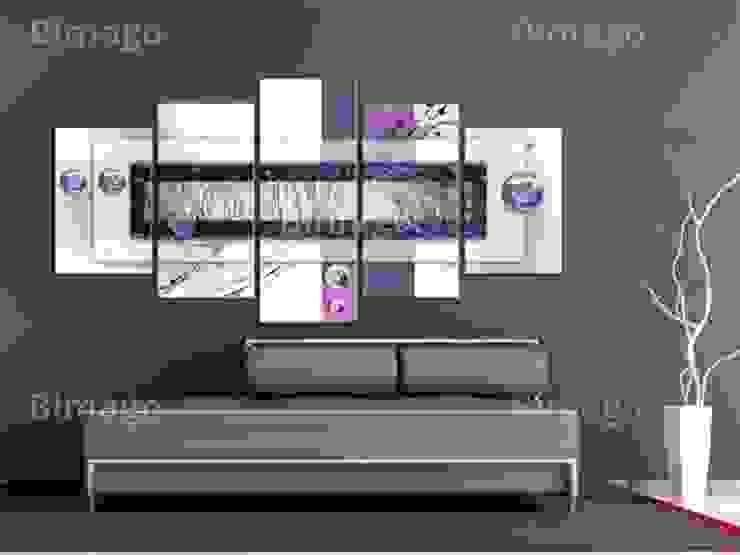 Equilibrio en violeta de BIMAGO Moderno