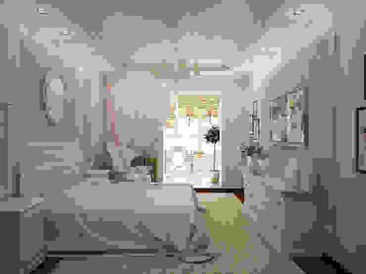Французский дворик на балконе Спальня в классическом стиле от Гурьянова Наталья Классический