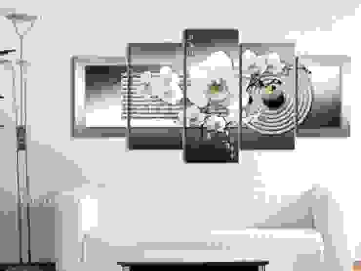 Orquídea y jardín zen en gris de BIMAGO Moderno