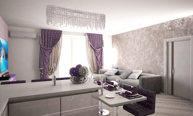Гурьянова Наталья 現代廚房設計點子、靈感&圖片
