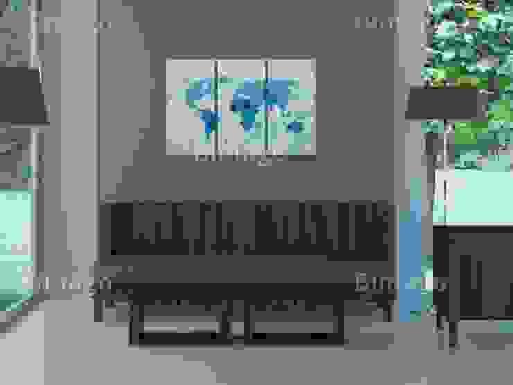 Las tierras y los océanos - Tríptico de BIMAGO Moderno