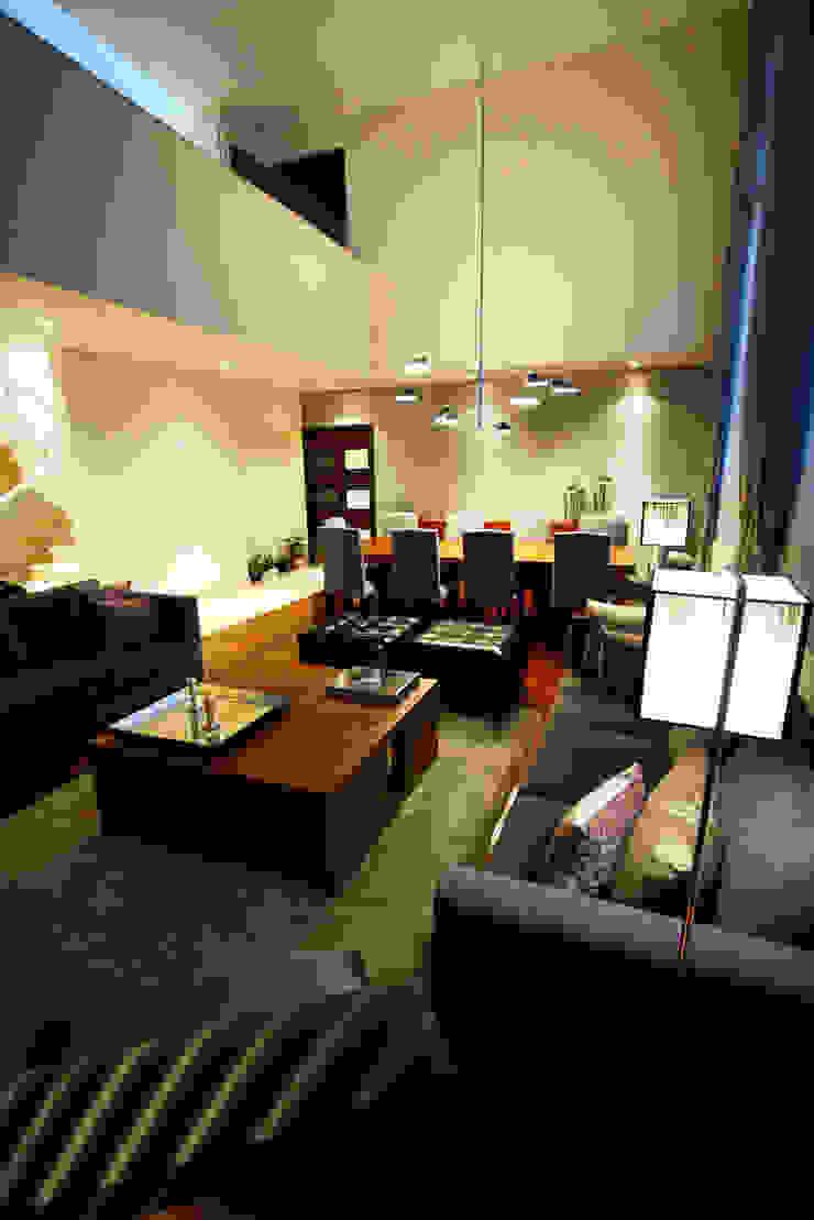Casa Tecamachalco Salones modernos de Concepto Taller de Arquitectura Moderno