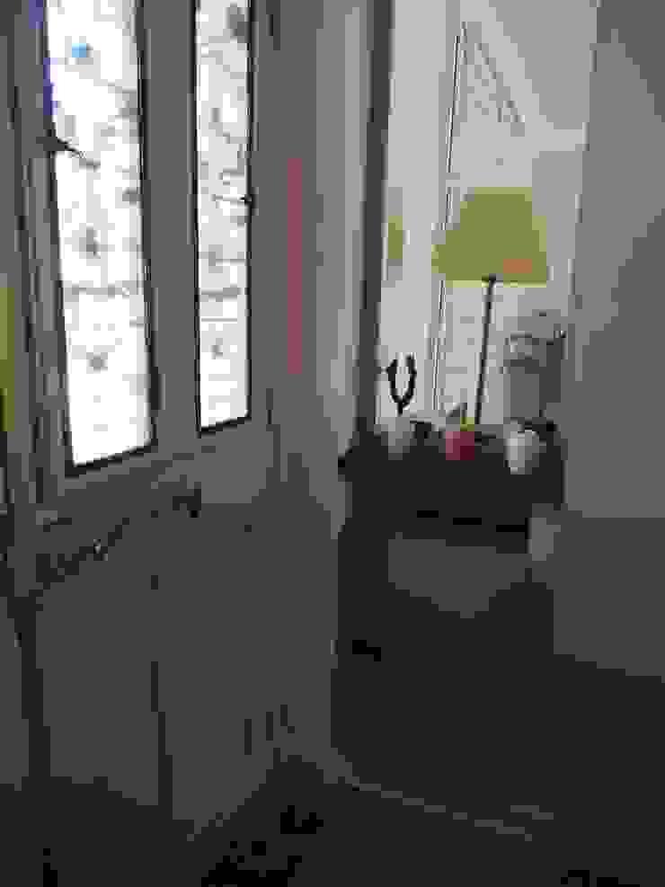 Maison de Famille rénovée agence MGA architecte DPLG Couloir, entrée, escaliers modernes