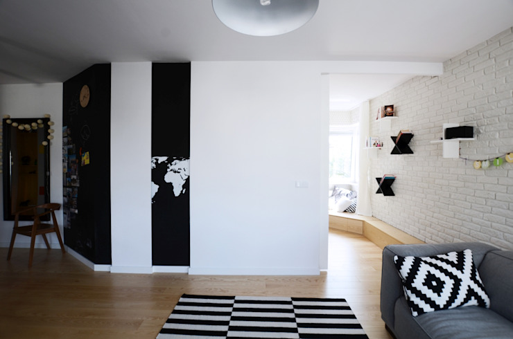 Devangari Design Salones de estilo escandinavo