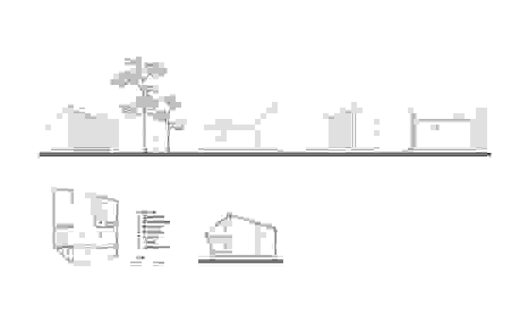 Trek-in – duurzame Trekkershut: modern  door Kristel Hermans Architectuur, Modern