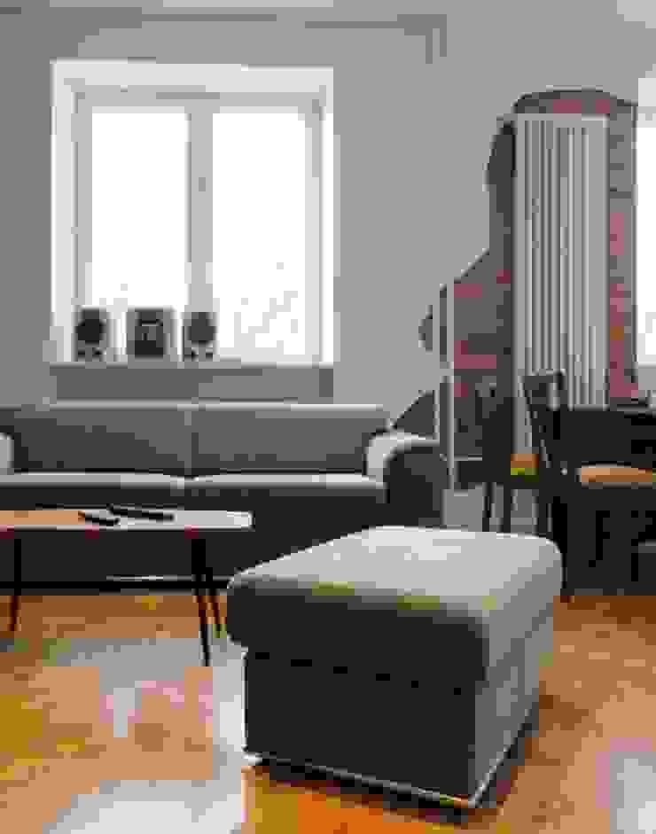 Kamienica na Puławskiej Eklektyczny salon od Devangari Design Eklektyczny