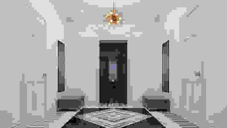 Квартира на Фрунзенской набережной Коридор, прихожая и лестница в эклектичном стиле от Prosperity Эклектичный