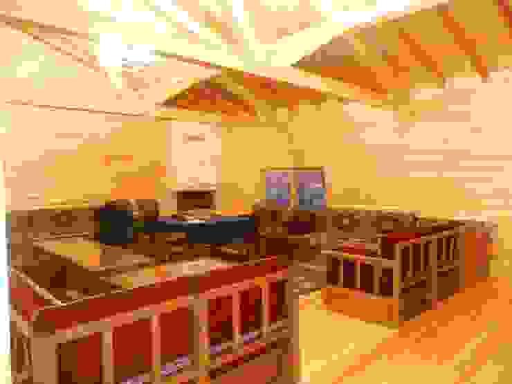 end ALM. İDARİ BİNA Kırsal Oturma Odası BERFIN YAPI MIMARLIK Kırsal/Country
