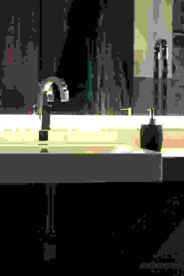 Betonowa Łazienka Nowoczesna łazienka od Akuratnie Nowoczesny