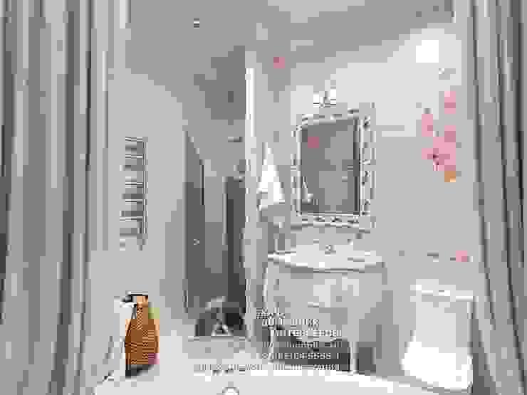 Дизайн санузла в розовых тонах Ванная комната в стиле модерн от Бюро домашних интерьеров Модерн