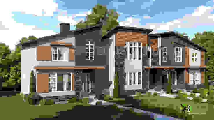 3D Exterior Residential Home Rendering Design: modern  by Yantram Architectural Design Studio, Modern