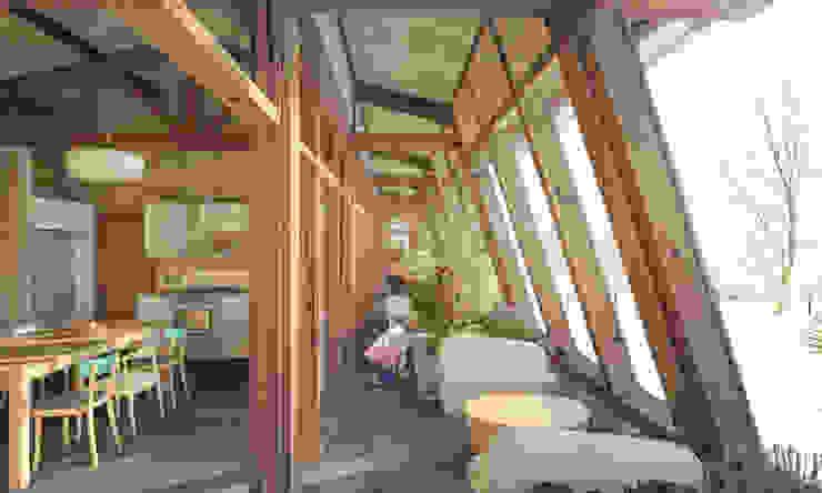 MAD # 01 (Maison Autonome Durable) Balcon, Veranda & Terrasse modernes par archestra Moderne